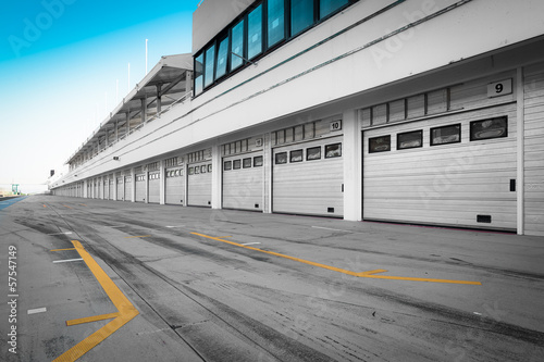 Photo sur Aluminium F1 auto-motor speedway garage station