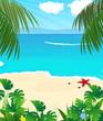 Wild tropical seascape