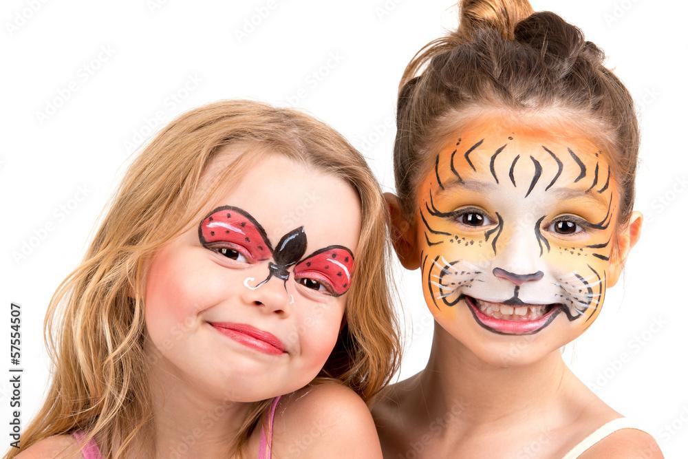 Fototapeta Malowanie Twarzy Tygrys I Biedronka 57554507 Fototapety Dzieci Picturewall Pl