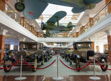 Vintage Autos And Airplanes In Ekaterinburg