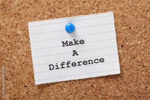 Fotografie, Obraz  Make A Difference