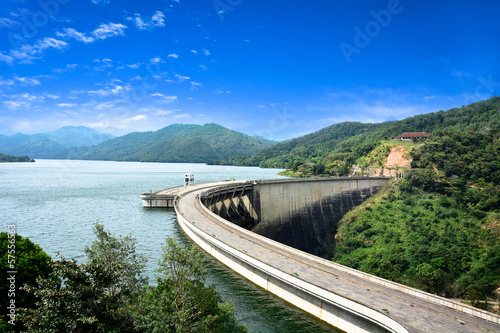 Tuinposter Dam Tourist landmark in Sri Lanka
