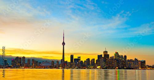 In de dag Berlijn Toronto Skyline, Canada