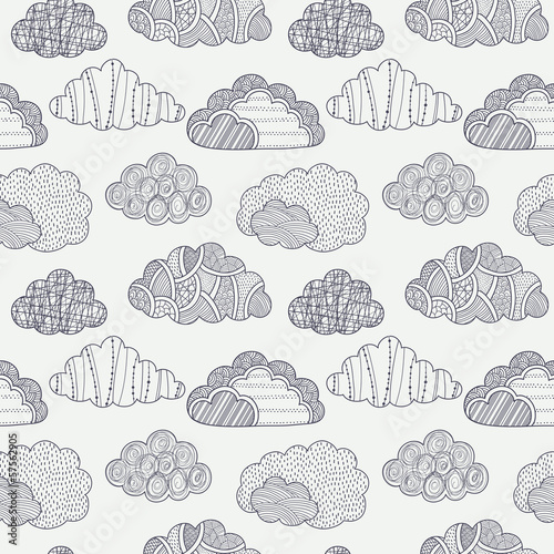 Fotografie, Obraz  Clouds seamless pattern