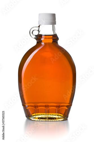 Fotografie, Obraz  maple syrup in glass bottle