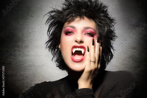 Beauty Vampire Girl Poster