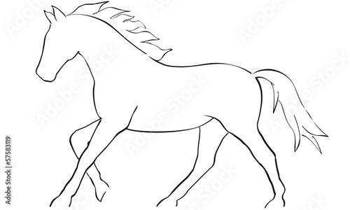 Schablone Motiv Galoppierendes Pferd Wiederverwendbar 7