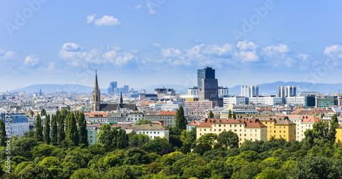 Photo sur Toile Vienne Wien Skyline