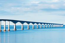 Confederation Bridge Linking The Provinces Of NB And PEI