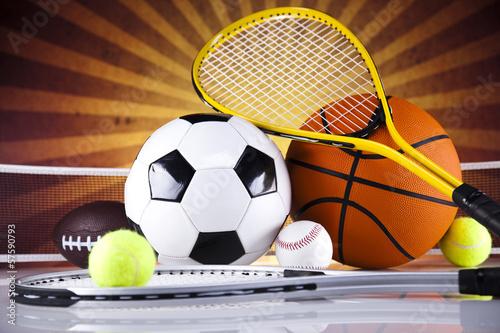 Foto-Schmutzfangmatte - Sport equipment and balls (von Sebastian Duda)