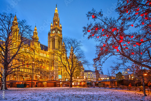 Vienna town hall Canvas Print
