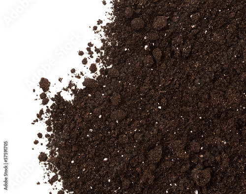 Fototapety brązowe  soil-or-dirt-crop-isolated-on-white-background
