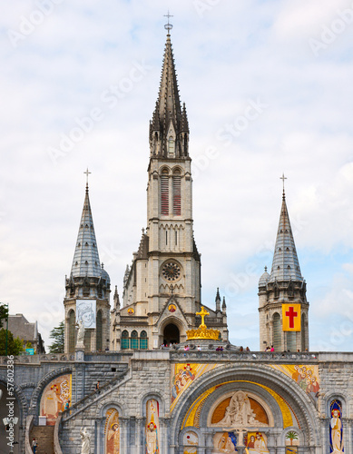 Photo  Basilica of the Rosary, Lourdes, France