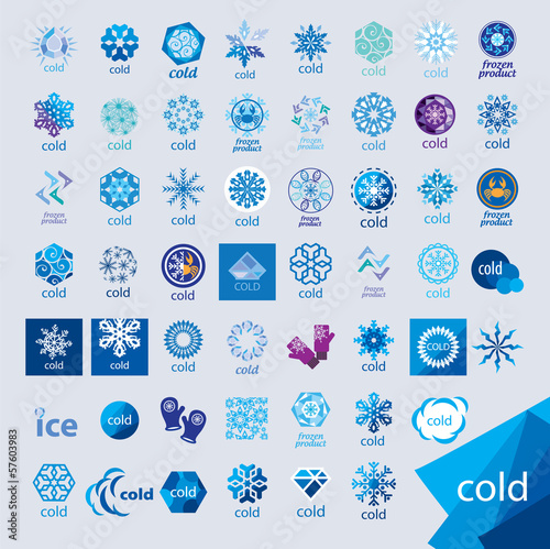 biggest collection of vector logos cold and frost Wallpaper Mural