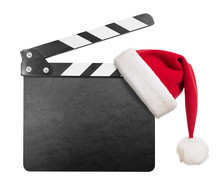 Clapper Board With Santa's Hat...