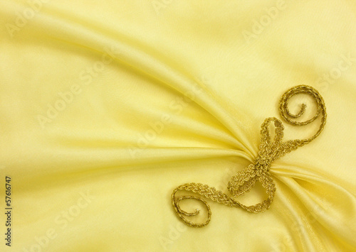 Fotografie, Obraz  background of golden organza draping
