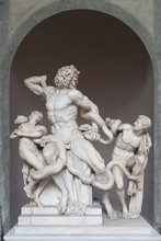 """Sculptural Group """"Laokoon"""" In The Museum Of Vatican."""