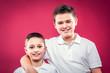 Leinwandbild Motiv Little Brothers Smiling