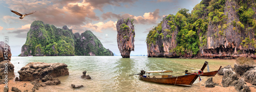 Deurstickers Eiland James Bond Island, Phang Nga, Thailand