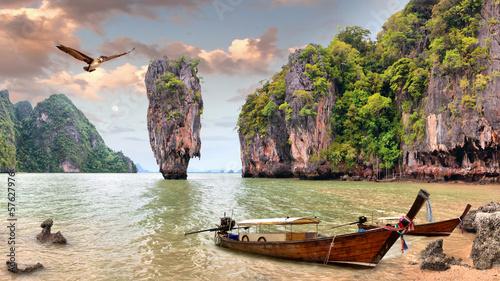 Staande foto Eiland James Bond Island, Phang Nga, Thailand