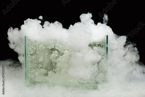 Valokuva  boiling dry ice with vapor