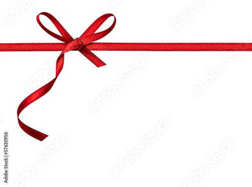 Fotografie, Obraz  ribbon bow card note chirstmas celebration greeting