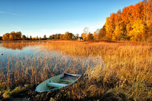Glorious Autumn Morning In Ostergotland, Sweden.
