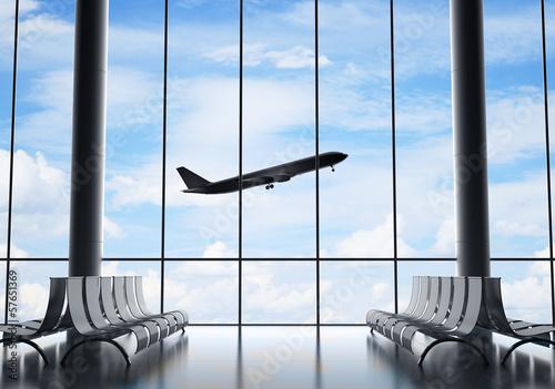 Poster Aeroport airport interior