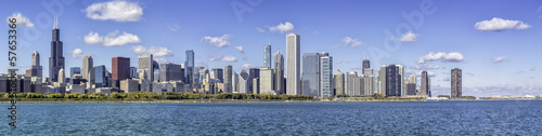 Foto op Canvas Chicago Chicago downtown panorama
