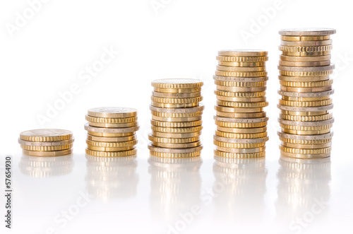 Fotografía  chart of euro currency - concept of increase