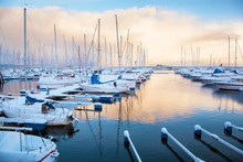 Winter View Of A Marina In Tro...