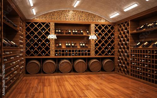 Tablou Canvas Wine cellar 2
