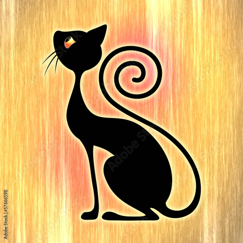 czarny-kot-vintage-style-design-art-deco-czarny-kot