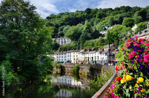 Matlock Bath and River Derwent Fototapet