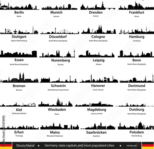 germany city skylines Poster