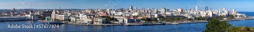 plakat Havana.View starego miasta przez zatokę. Panorama