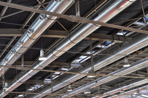 Staande foto Industrial geb. Industrial tube ventilation, air-conditioning
