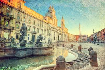 Panel Szklany Rzym Piazza Navona, Rome. Italy