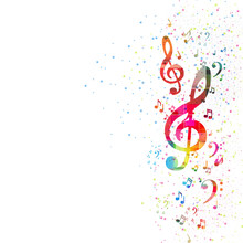 Music Note Background, Easy Editable