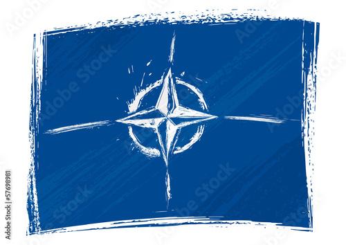 Fotografie, Obraz  Grunge NATO flag