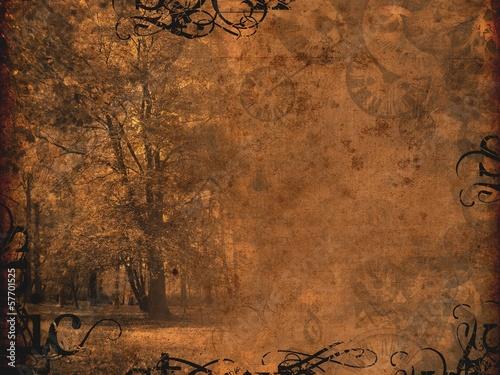 melancholy autumnal background