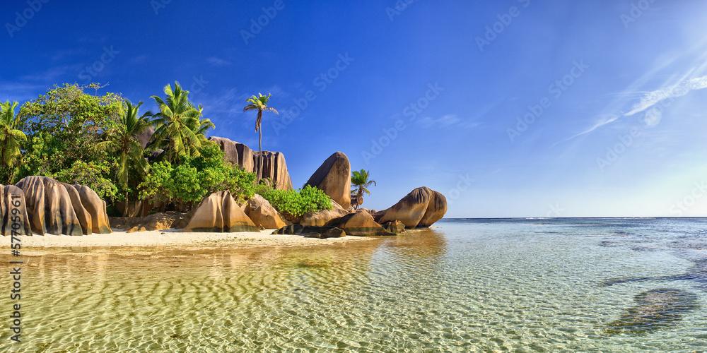 Fototapeta Beautiful beach in Seychell island