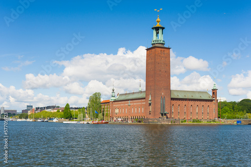 Poster  Stockholm City Hall in summer