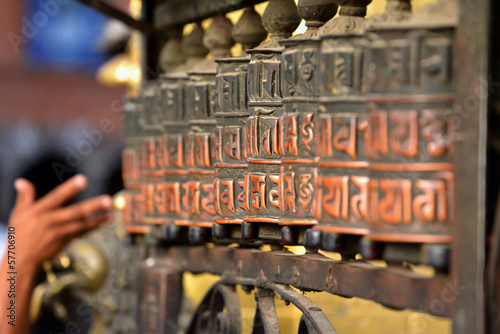 Printed kitchen splashbacks Nepal Prayer wheels