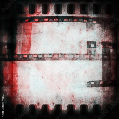 Papiers peints Affiche vintage old dirty grunge film strip background