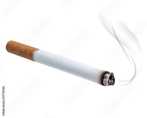 Canvastavla Burning cigarette. Vector illustration