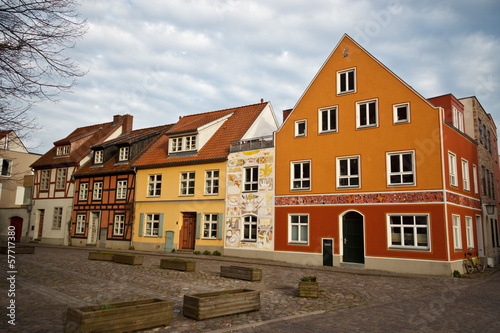 Fototapety, obrazy: houses in the old town of Stalsund