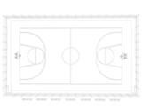 Fototapeta Sport - Basketball court. Wire frame