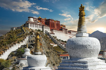 The Potala Palace In Tibet Dur...