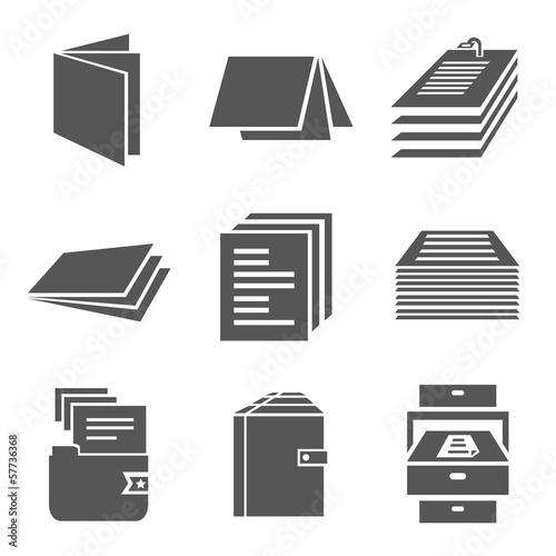 Fototapeta document icons obraz